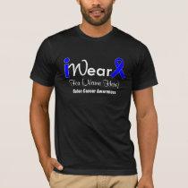 Personalize Blue Ribbon Colon Cancer T-Shirt