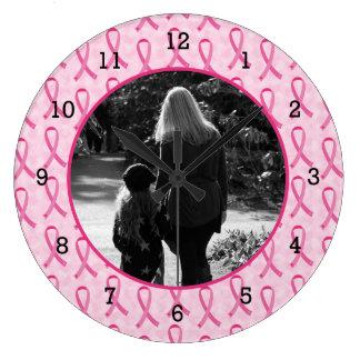 Personalize Breast Cancer Memorial Clocks