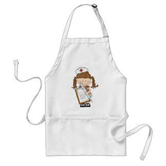 Personalize Brunette Nurse Gifts! Adult Apron