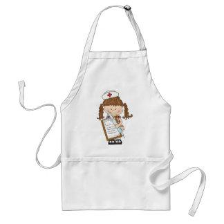 Personalize Brunette Nurse Gifts! Apron