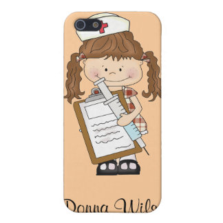 Personalize Brunette Nurse Gifts iPhone 5 Covers