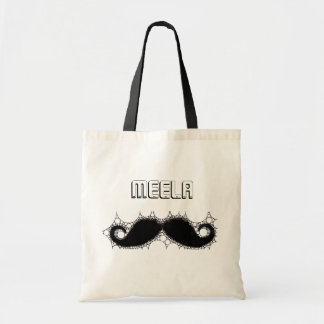 Personalize Budget Tote with Mustache