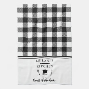 Black And White Checkered Kitchen Dining Supplies Zazzle