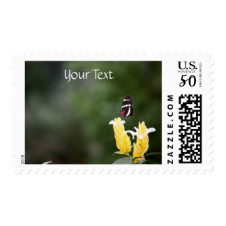 (Personalize) Butterfly Perched on Flower Postage