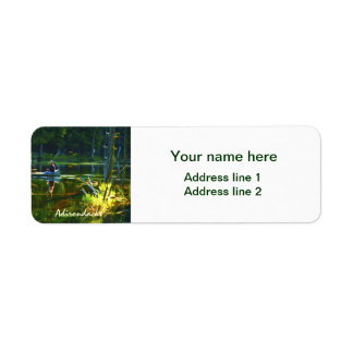 Personalize: Canoeing in the Adirondacks Photo Label