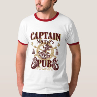 Personalize Captain Name's Pub Great Gift Idea! Tee Shirt