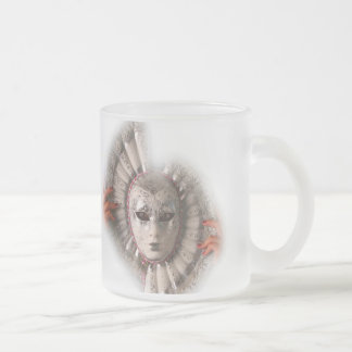 PERSONALIZE CARNIVAL MASK NAME FROSTED FROSTED GLASS COFFEE MUG