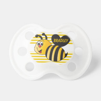 Personalize Cartoon Bumble Bee Pacifier