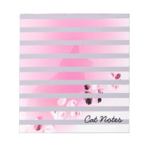 Personalize Cat Paw Prints For Cat Lovers Notepad