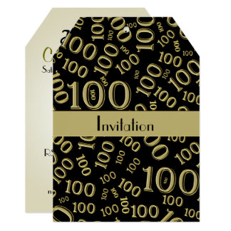 Personalize: Centenarian 100th Birthday Party Card
