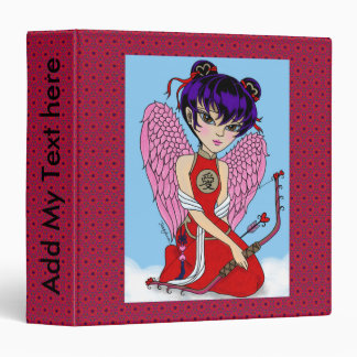 personalize Chinese Cupid with red patten binder