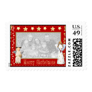 Personalize Christmas Angels Photo Postage