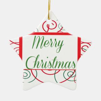 Personalize Christmas Ceramic Ornament