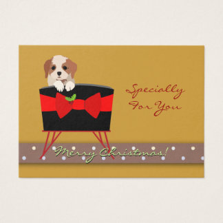 Personalize Christmas Holiday Gift Tag (Puppy)