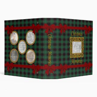 Personalize Christmas Memories Photo Album 3 Ring Binders