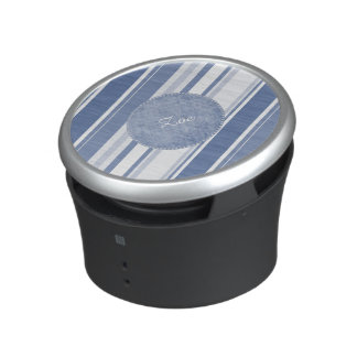 Personalize: Classic Blue and White Stripes Bluetooth Speaker