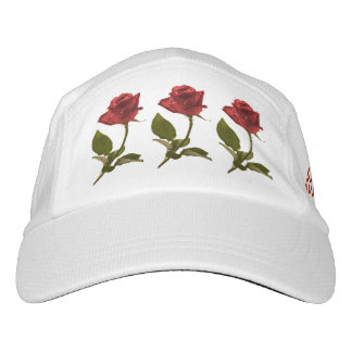 Personalize:  Closeup Red Rose Nature Photo Headsweats Hat