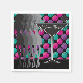 Personalize Cocktail Party Girl Fun Napkin