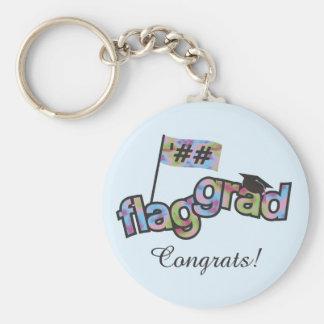 Personalize Color Guard Graduation Keychain