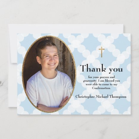 Personalize Confirmation Boy Thank you
