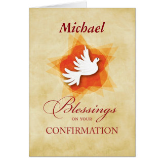 Personalize Confirmation Congratulations Dove Card