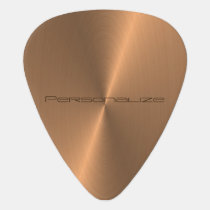 Personalize Copper Metallic Print 🎸 Guitar Pick