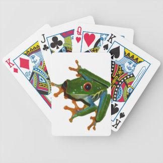 Personalize Costa Rica Red Eyed Frog Bicycle Playing Cards