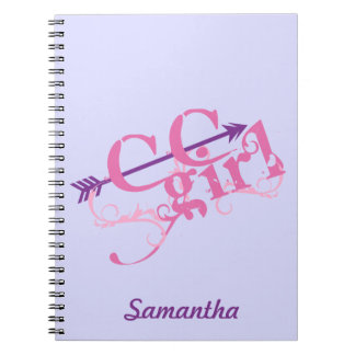 Personalize Cross Country Girl Spiral Notebook