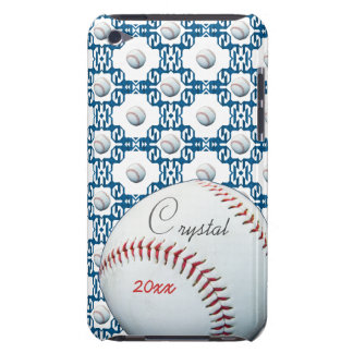 Personalize Crystal Baseball Motif Ipod Touch Case