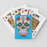 "Personalize Custom Artistic Mexican Sugar Skull Playing Cards<br><div class=""desc"">Personalize Custom Artistic Mexican Sugar Skull Playing Cards.  Use this easy template to add your own text to make this a special artistic gift.  You can even customize the background color for your own style!</div>"