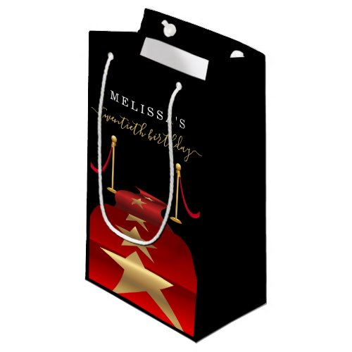 Personalize Custom Red Carpet Party Favor Gift Bag