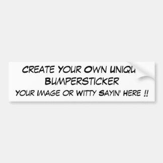 Personalize / Customize Items Bumper Sticker