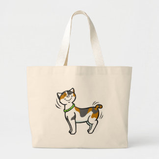 Personalize Cut Cat Beach Boater Tote Bag