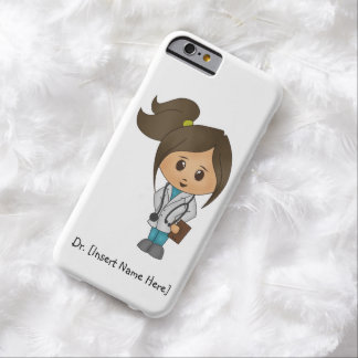 Personalize Cute Brunette Female Doctor iPhone 6 Barely There iPhone 6 Case