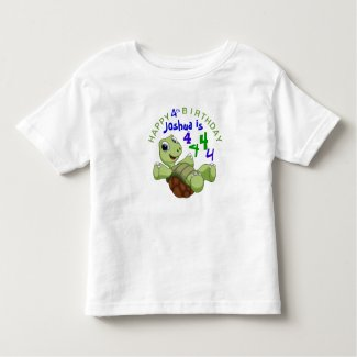 PERSONALIZE Cute Turtle Happy Birthday for Boy