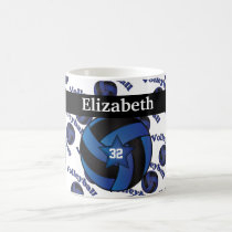 Personalize Dark Blue Volleyball Coffee Mug