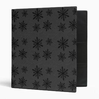 PERSONALIZE - Dark Snowflake Pattern 2 Binders