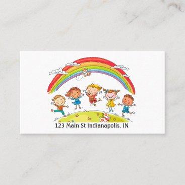 Personalize Daycare Preschool Teacher Colorful Business Card