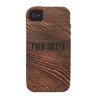 *Personalize* de madera del caso del iPhone 4 del iPhone 4/4S Carcasas