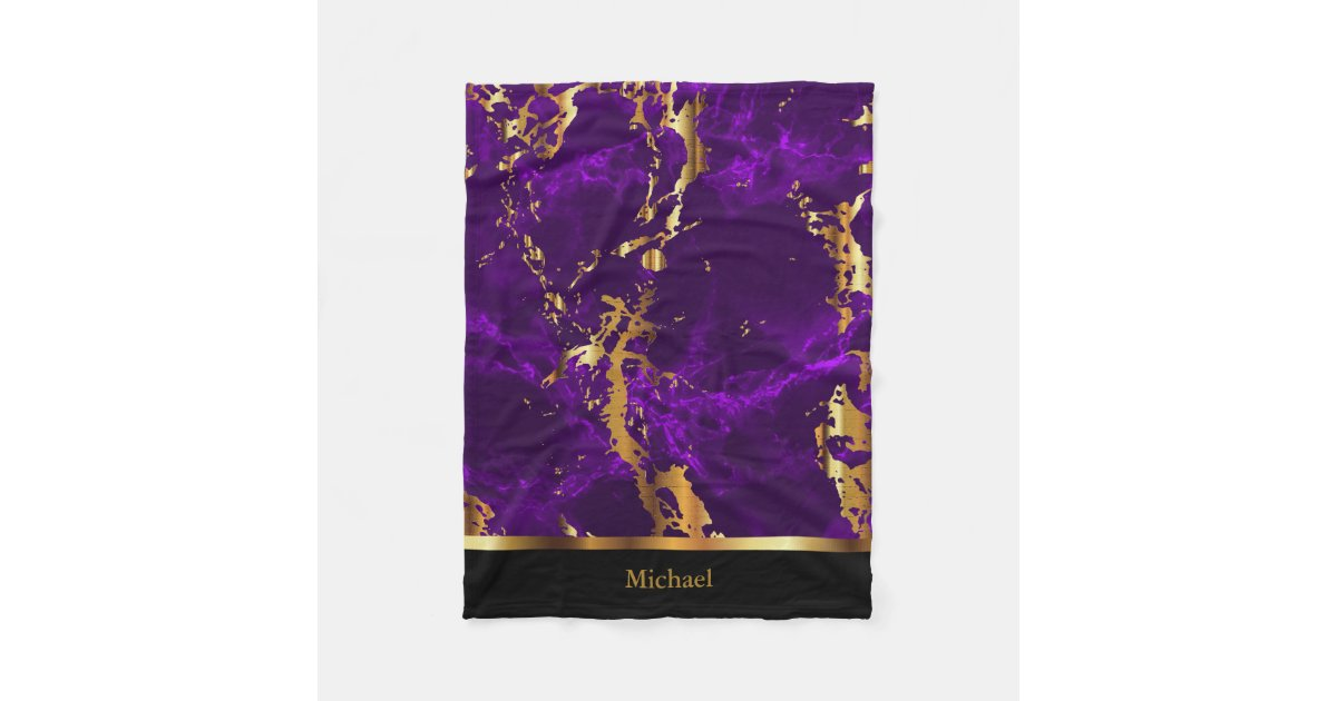 Modern Purple & Gold Abstract Marble Stationery | Zazzle