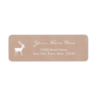 Personalize Deer Watercolor Style Label