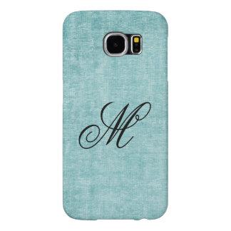 Personalize Digital Likeness Aqua Chenille Fabric Samsung Galaxy S6 Case
