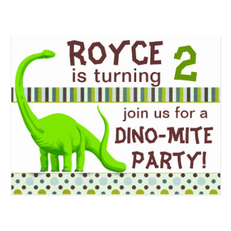 Personalize Dinosaur Birthday Invitation Postcard