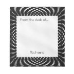 Personalize - Distorted Black and White Checks Memo Notepads