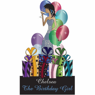 Personalize Diva Party Girl Photo Cutouts