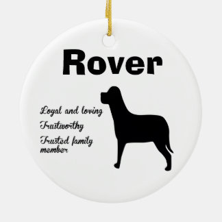 Personalize Dog Ornament
