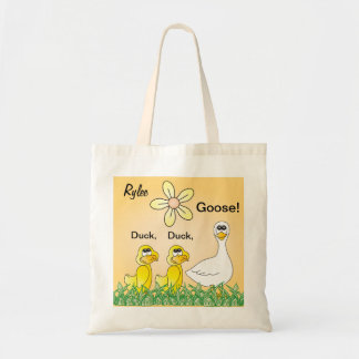 Personalize Duck, Duck, Goose Overnight Tote Bag