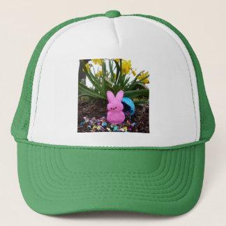 Personalize Easter Bunny Peace Love Art Destiny Trucker Hat