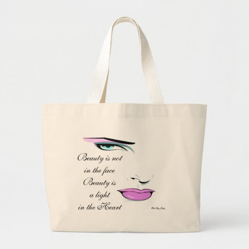 "Personalize Elegant ""Beauty"" Quote Tote Bag"