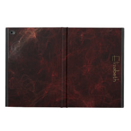 Personalize Elegant Burgundy Marble Abstract Powis iPad Air 2 Case